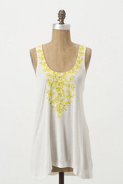 Devi Tank #anthropologie - Love the pink one with my new white skirt....but $58.00 for a tank???