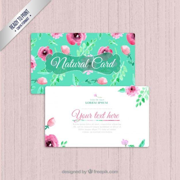 Extremamente Cartão de visita Natural   Cartões de visita, Visita e Cartão JS14