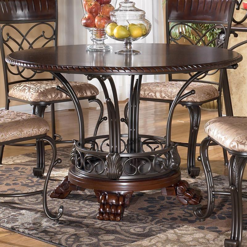 Ashley Furniture In Woodbridge Nj: Ashley Furniture Alyssa Round Single Pedestal Dining Table