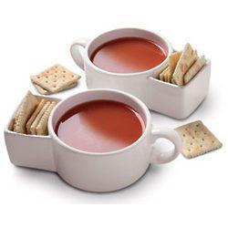 soup and crackers mug - 16 oz - dishwasher safe