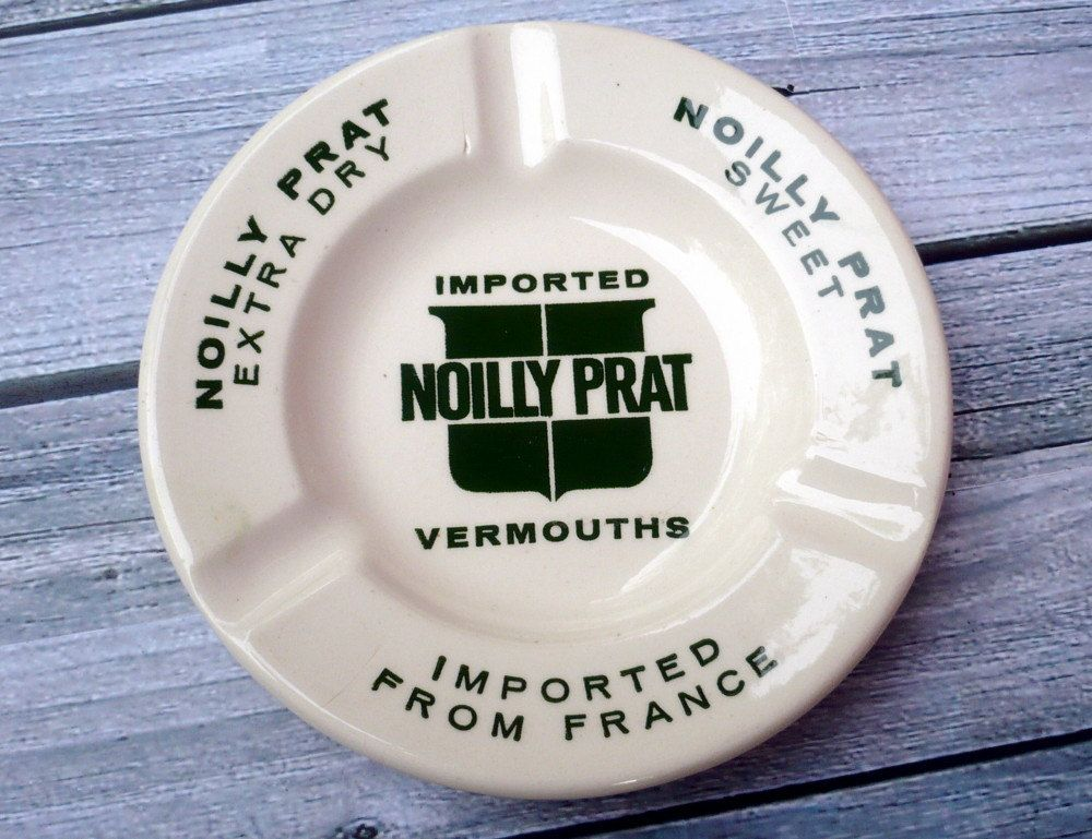 Vintage Noilly Prat Vermouth Ashtray by ShadeTreeClassics on Etsy