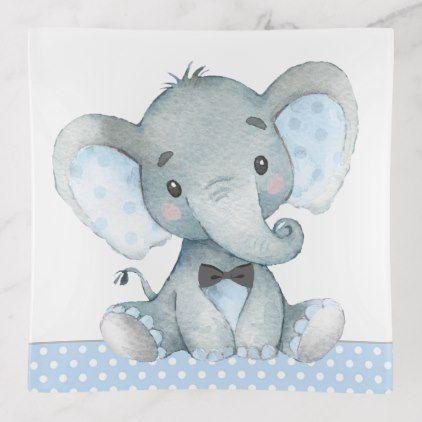 Elephant Baby Boy Trinket Trays Zazzle Com Elephant