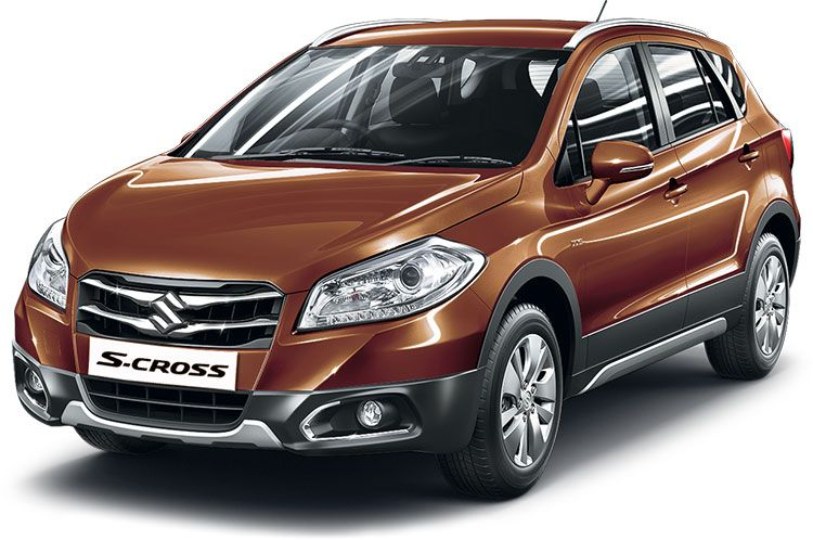 Maruti SCross Colors Blue, Brown, White, Grey and