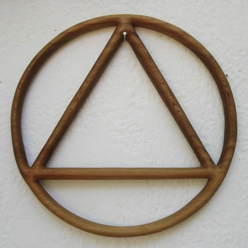 Alcoholics Anonymous Symbol Of Recovery Sobriety Circle And Triangle