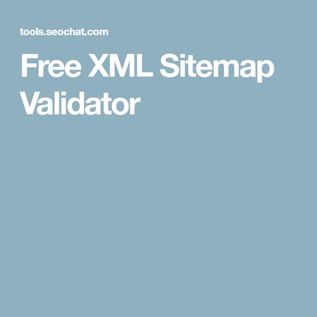 free xml sitemap validator onlinetools pinterest