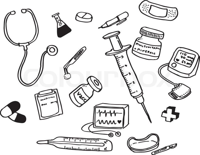Doctor Tools Coloring Pages | community helpers | Pinterest