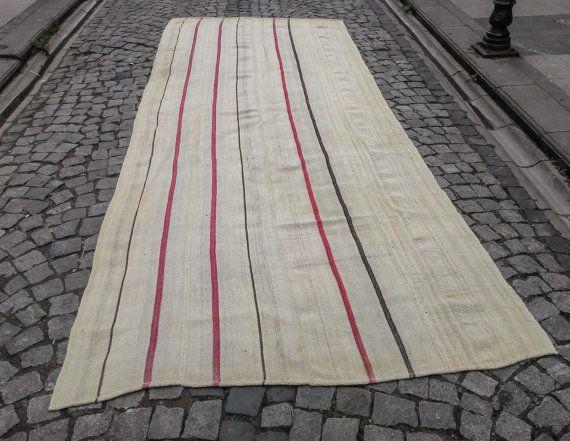 Organic rug Hemp fiber rug  4.9 x 11.9 ft  149 cm x by storeOrient