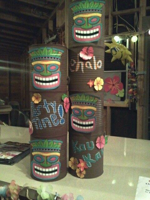Luau Buckets Use As Ash Tray Party Themes Hawaiian