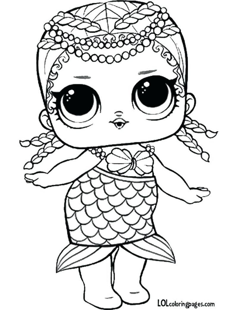 Lol Coloring Book Pages Printable Coloring Pages To Print In 2020 Unicorn Coloring Pages Mermaid Coloring Pages Mermaid Coloring