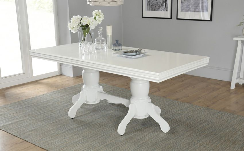 Chatsworth White Extending Dining Table 150   180cm Only £349.99 | Furniture  Choice