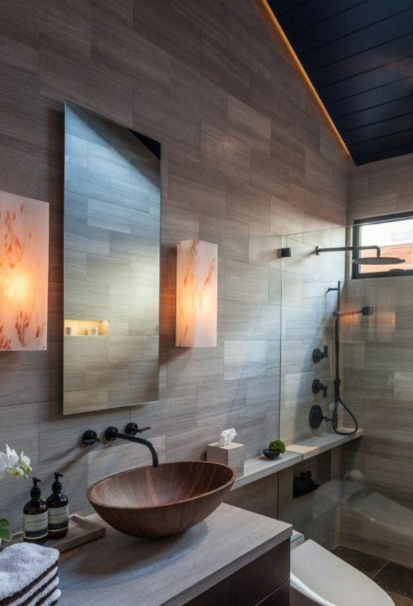 Moderne Badezimmer Ideen - coole Badezimmermöbel wohnen - interieur bodenbelag aus beton haus design bilder