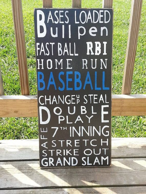 Wooden Baseball Sign