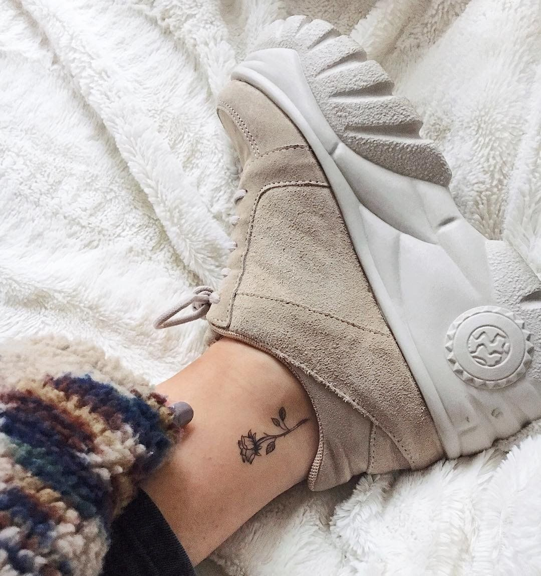 UO Tyson Tan Suede Chunky Trainers