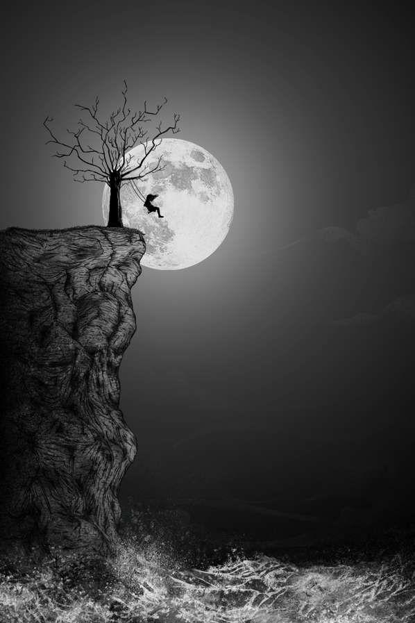 Lune et fille   – güzellikler