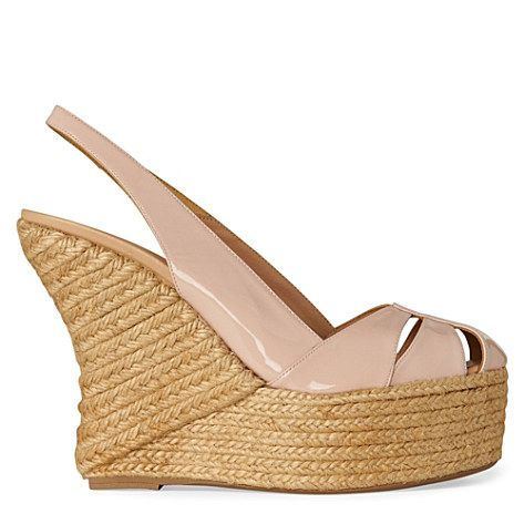 summer 2012 best seller-nude curved wedges- go with any and every dress you will ever own!