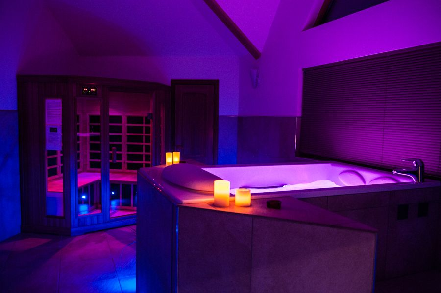 Kohler RiverBath with chromotherapy lighting and infra-red sauna at ...