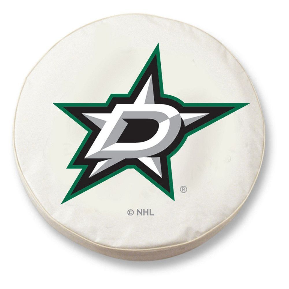 Dallas Stars White Tire Cover w/ Security Grommets