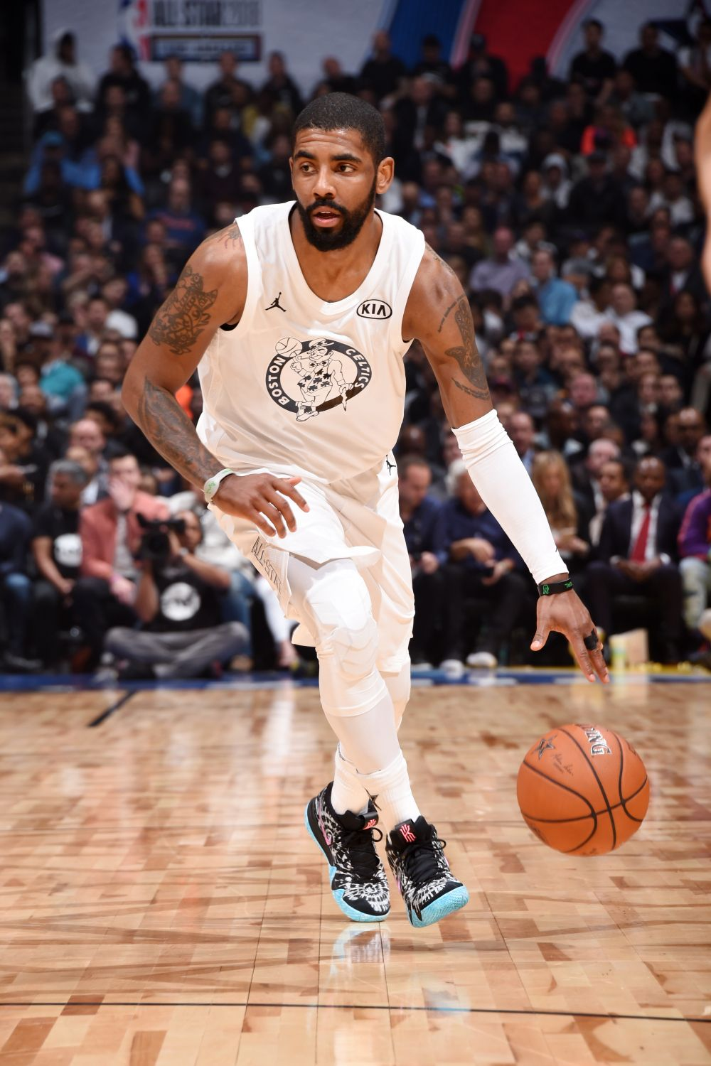 Kyrie Irving debuts new Nike Kyrie 4 'All-Star' sneaker starting for Team  LeBron Sunday