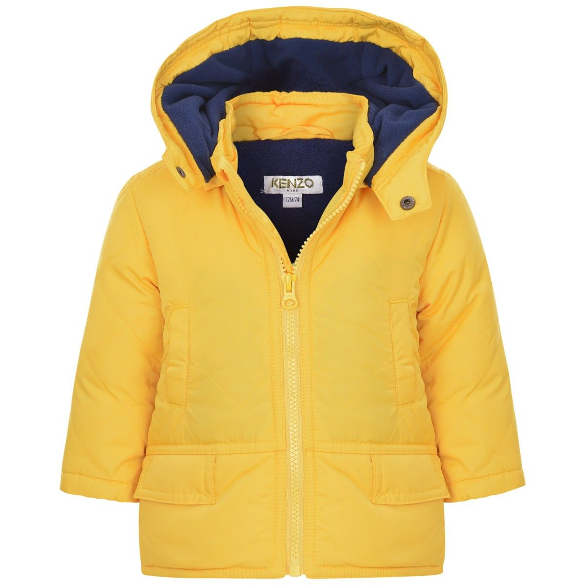 c3fccbf93232 Kenzo Baby Boys Yellow Down Padded Quilted Coat