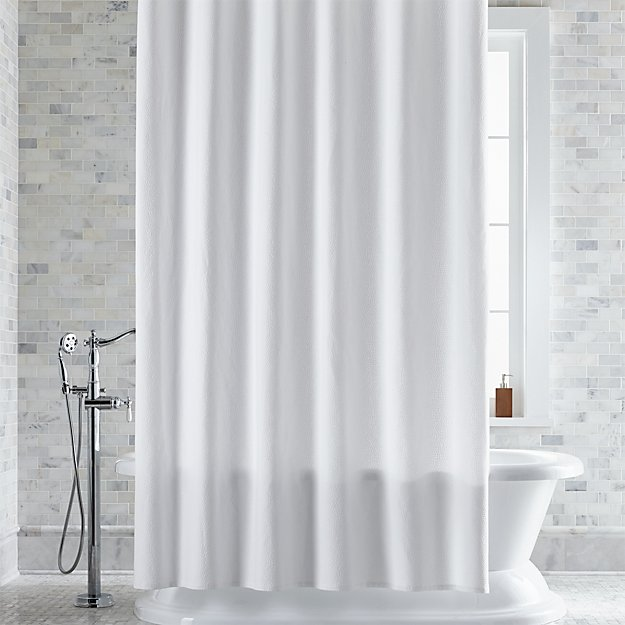 Pebble Matelasse White Extra Long Shower Curtain Reviews Crate And Barrel White Shower Curtain Long Shower Curtains Extra Long Shower Curtain