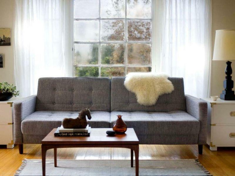 Kleines Wohnzimmer Beispiele Mit Weiß Und Grau
