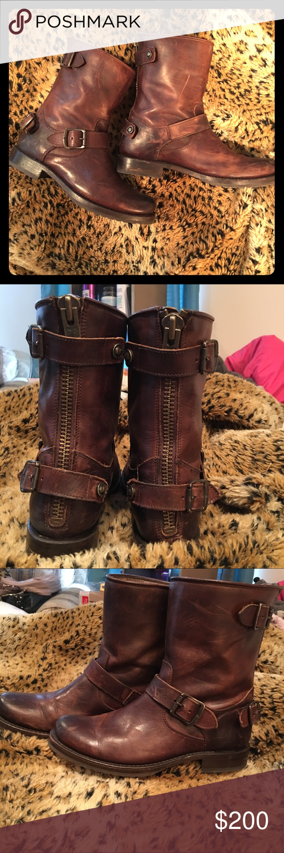 Frey Veronica Zip Boots size 7 Beautiful pair of size 7 boots. Purchased for $328 and asking $200. Want to keep and wear these so badly and they are unfortunately a size too small for me. Frye Shoes Ankle Boots & Booties
