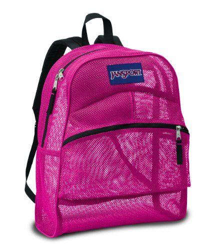 JanSport Mesh Backpack (Majestic Pink) | Backpacks for School ...