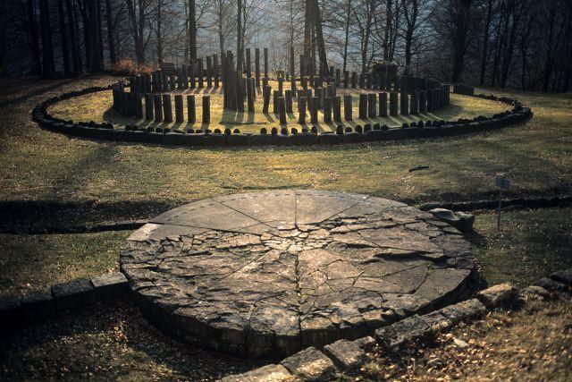 dacian ruins at dusk, sarmizegetusa regia, romaniaphoto: bogdan croitoru