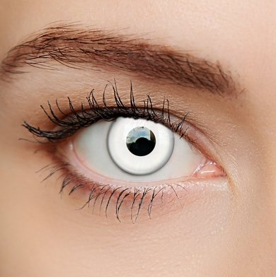 White Eyes #coloredeyecontacts