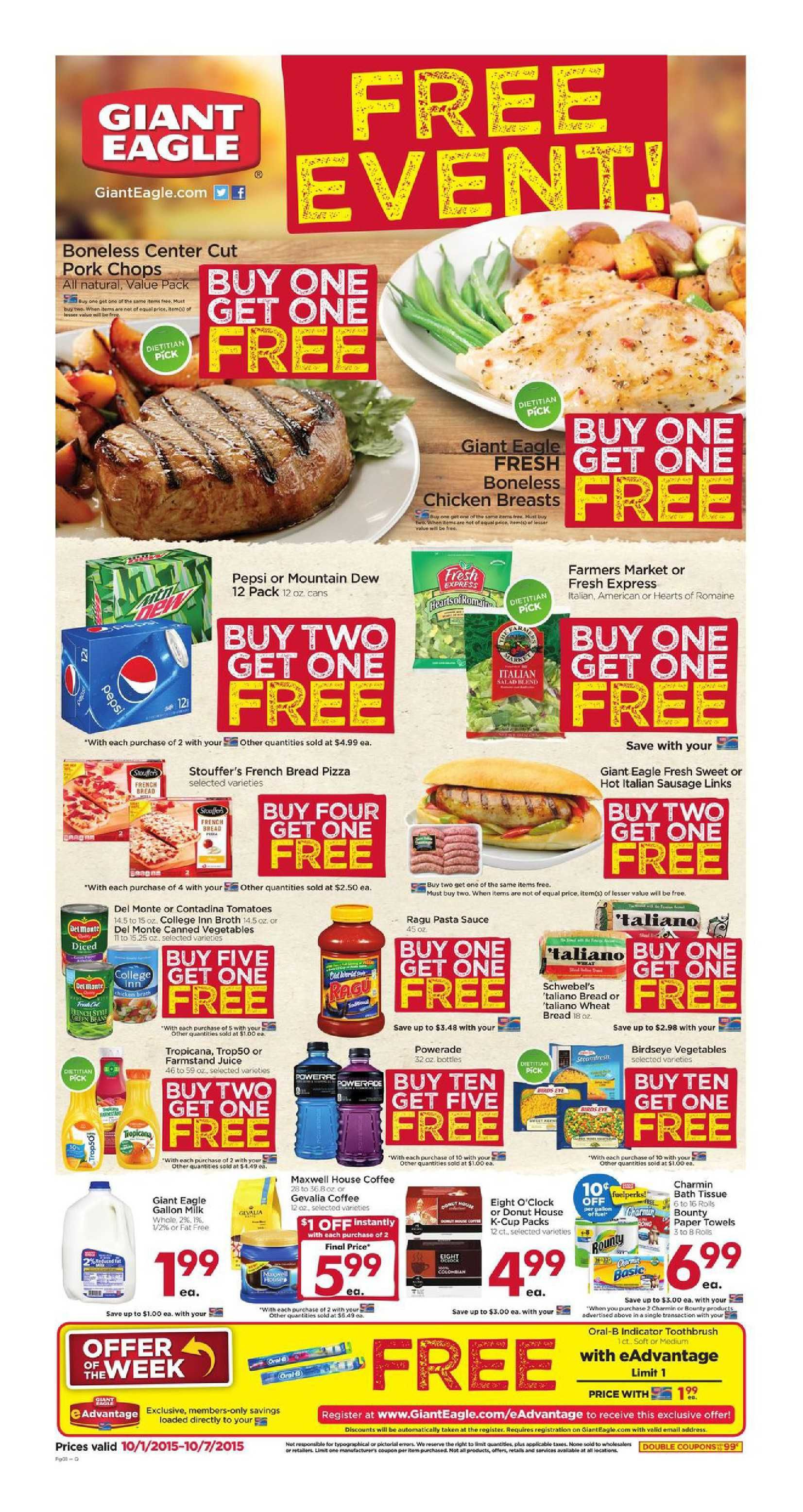 Giant eagle weekly ad october 1 7 2015 httpwww