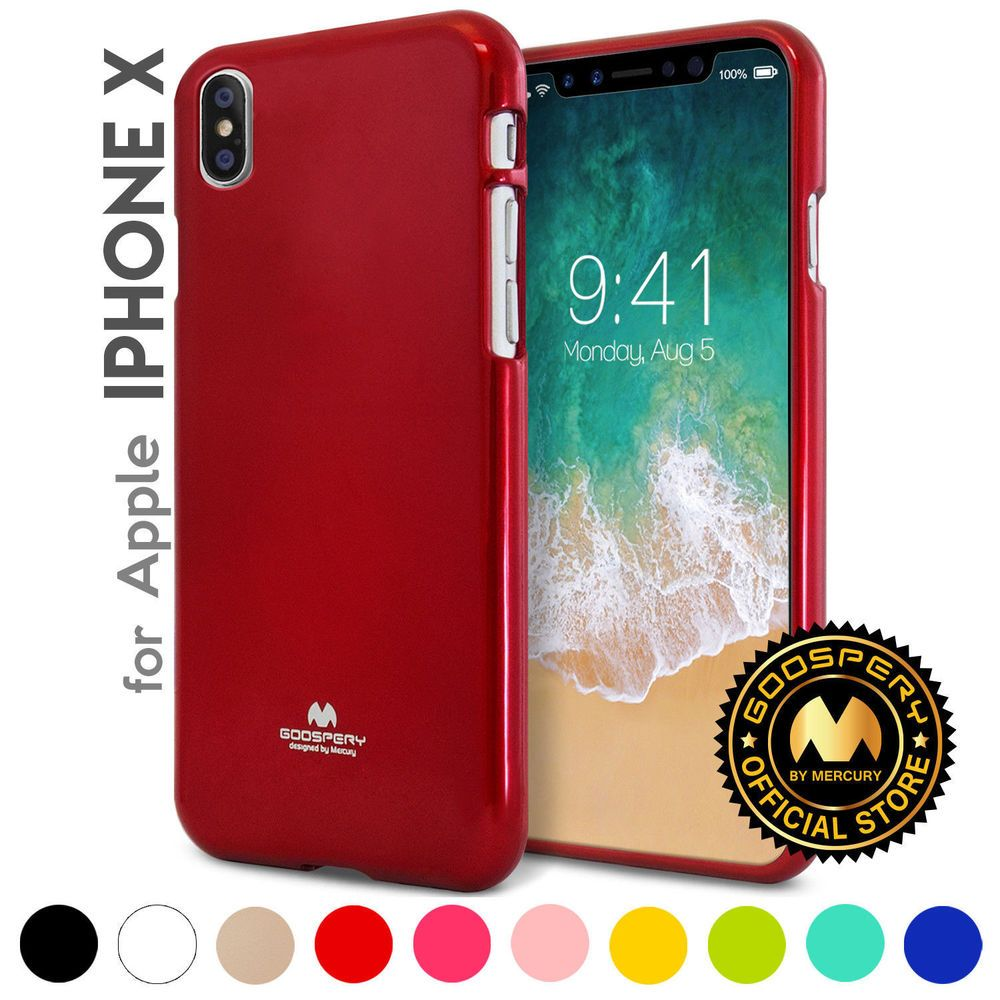 For Iphone X 10 Genuine Mercury Goospery Metallic Soft Pearl Jelly 6 Plus 6s Case Pink Cover