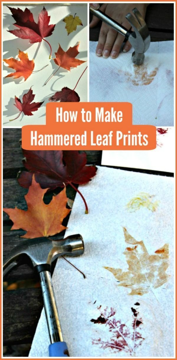 How to Make Leaf Prints: Fall Crafts for Kids