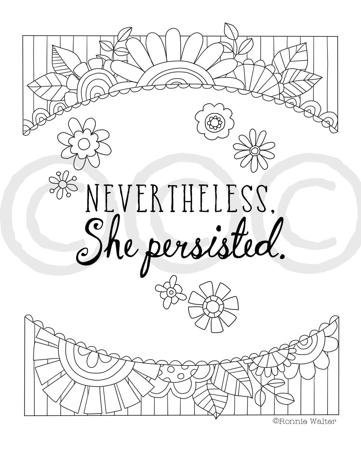 Nevertheless She Persisted Quote -Inspirational Instant ...