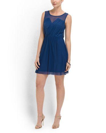 b0597f683c538 Oscar Full Skirt Mesh Dress - Party Dresses - T.J.Maxx | dresses ...