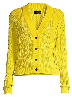 4ab1c41a4717f0 RtA Women's Hunter Cotton Cabled Cardigan | Products in 2019 ...