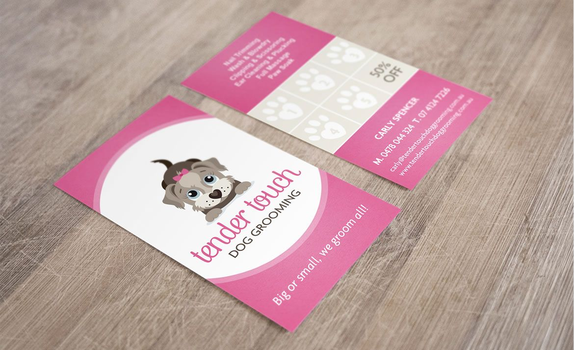 Tender Touch Dog Grooming business card design by ITALIC | ITALIC ...
