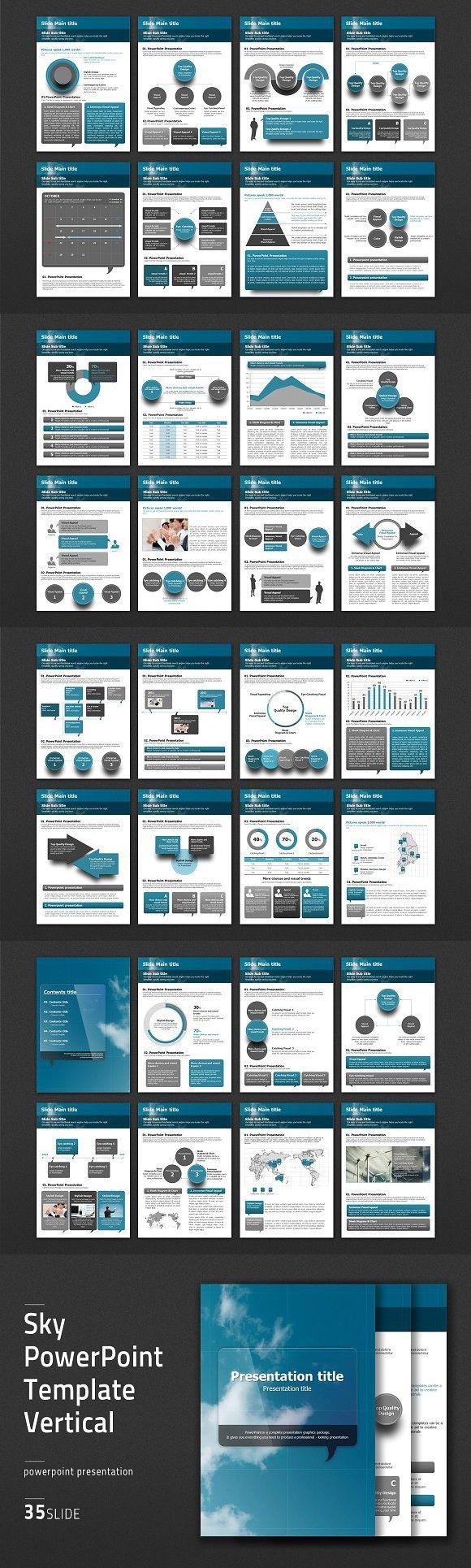 Sky powerpoint template vertical clouds presentation templates sky powerpoint template vertical clouds toneelgroepblik Images