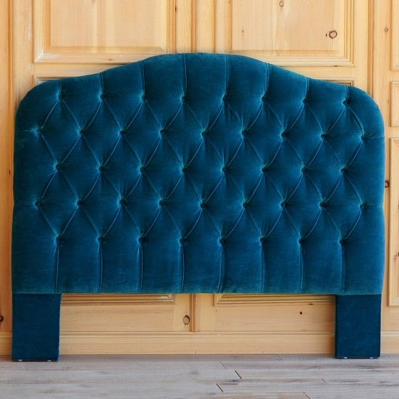 Velvet Tufted Headboard - Queen - Teal Blue - On Sale | Bedroom ...
