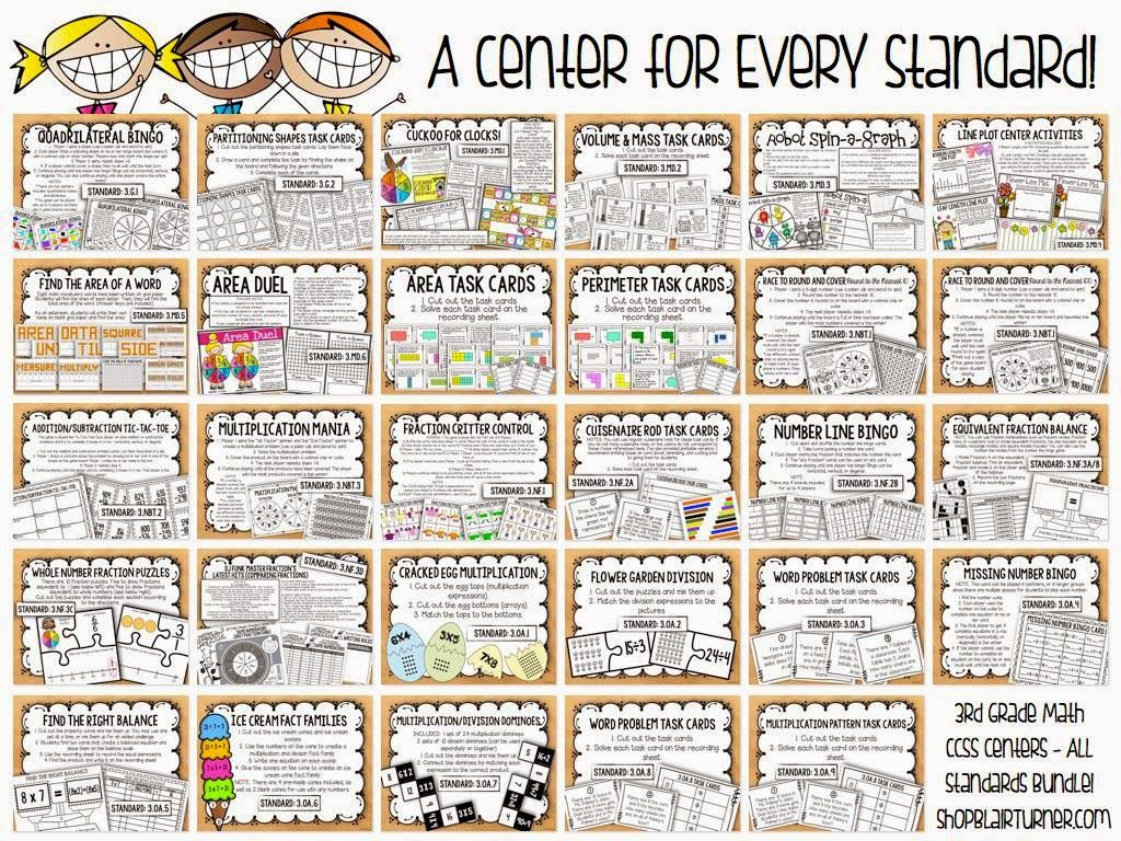 These 4th grade math centers are perfect for test prep or any time ...