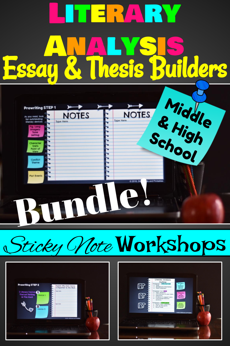 literary analysis essay and thesis statement builder google  teach students to write a literary analysis that is completely centered on  a strong thesis statement