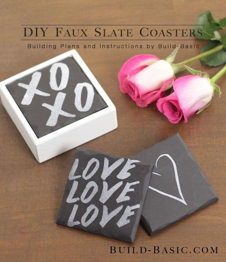 Photo of DIY Faux Slate Untersetzer #ValentinesDay