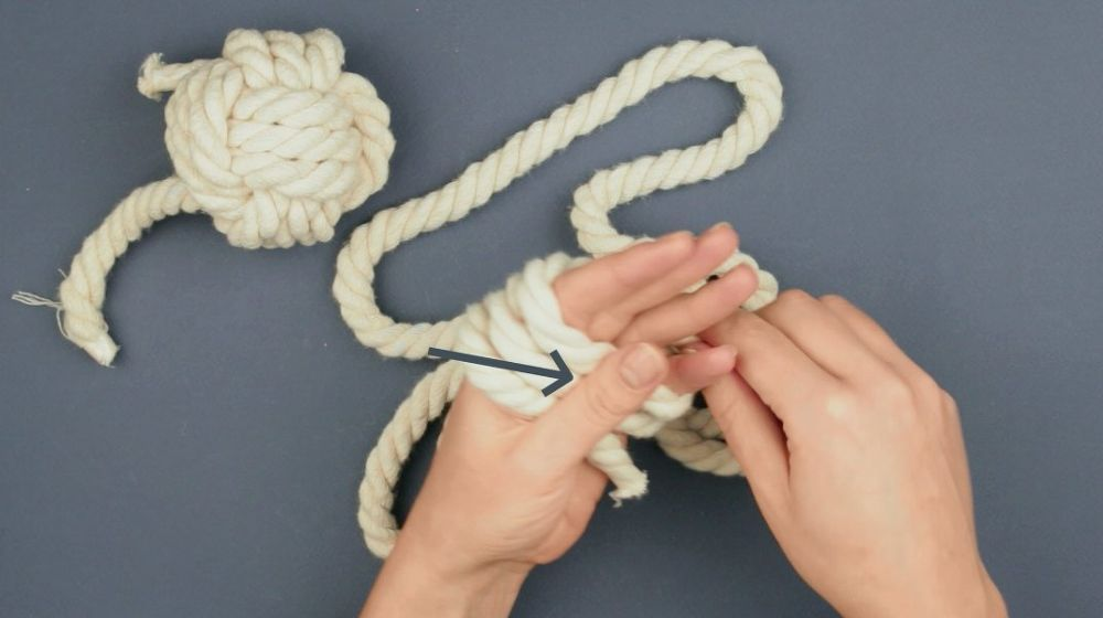 Diy Nautical Curtain Tie Backs Monkey Fist Knot Monkey Fist Knot