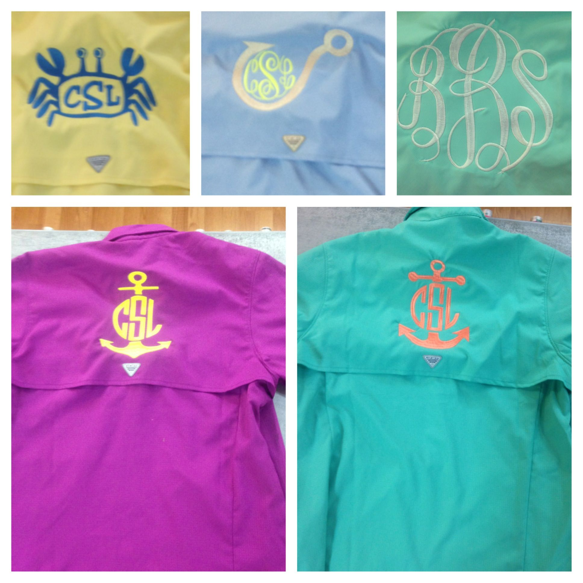 Columbia fishing shirts custom embroidery pinterest for Monogram fishing shirt