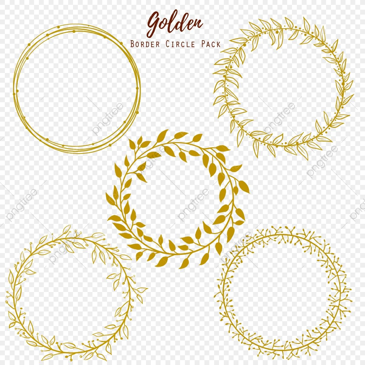 Download This Golden Circle Gold Golden Png Clipart Image With Transparent Background Or Psd File Fo Circle Graphic Design Floral Border Design Golden Circle