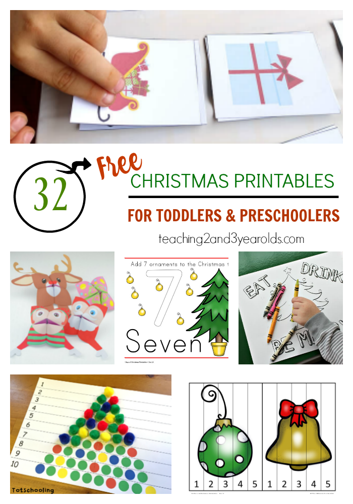 32 Free Christmas Printables for Toddlers and Preschoolers | Free ...