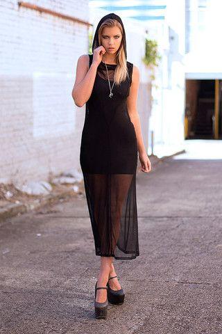 Massacre Hooded Maxi Dress Limited Dresses Pinterest Black