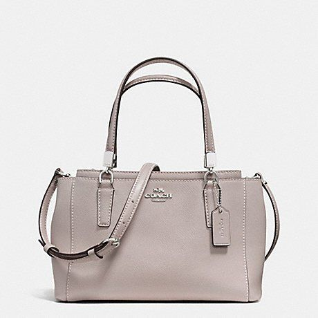 e81988c340 COACH Crossgrain Mini Christie Satchel - Grey Birch -- Details can be found  by clicking on the image.