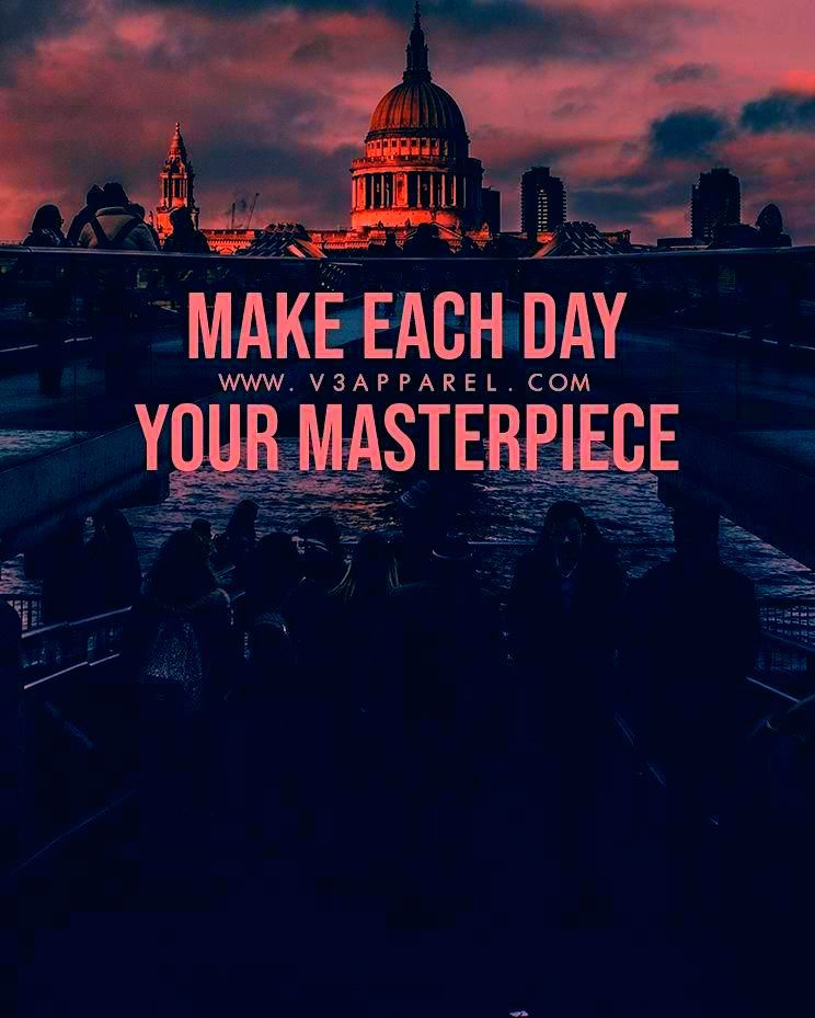 Make each day your masterpiece Download this FREE wallpaper  MadeToMotivate and many more for motivation on the go  Fitness Motivation  Workout Quotes  Gym Inspiration  M...
