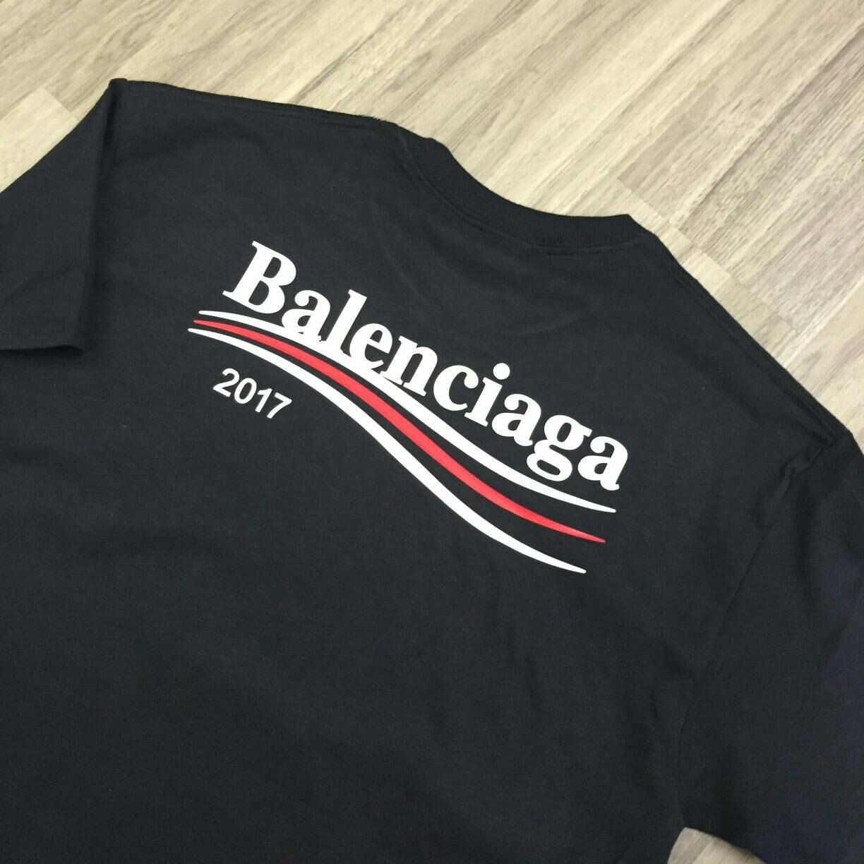dc5d7d3c The back print on the Balenciaga Campaign tee. Coming soon in Navy and Red!  Keep it locked.