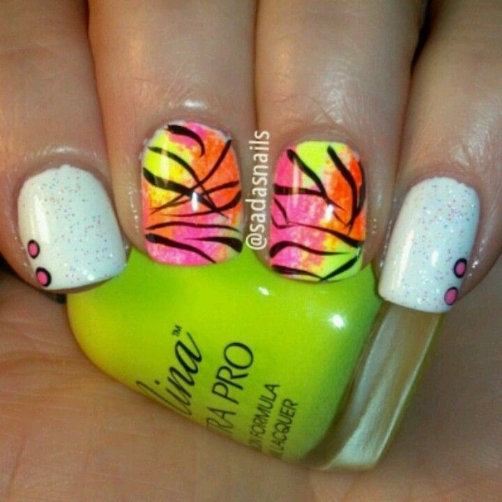 Neon nails | Nail Designs | Pinterest